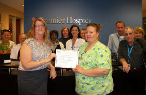 Premier Hospice Arizona Staff with Certificate